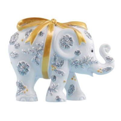 Bundle Of Joy GOLD (small 5cm elephant in a tin) - Elephant Parade available at The Frame Odiham