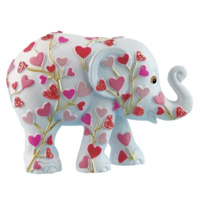 Pink Tree Of Love (small 5cm elephant in a tin) - Elephant Parade now aviailable at The Frame Odiham