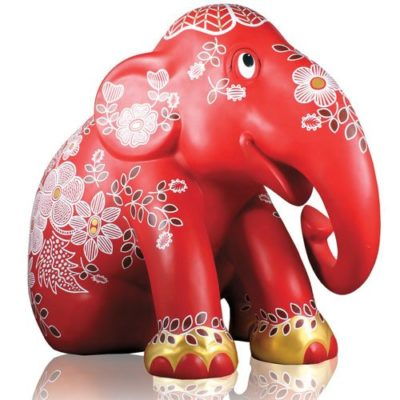 Red Happinez 15cm - Sitting - Elephant Parade available at The Frame Odiham
