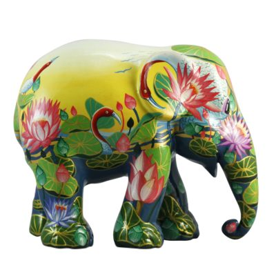 Amazing Lotus 20cm Elephant Parade available at The Frame Odiham