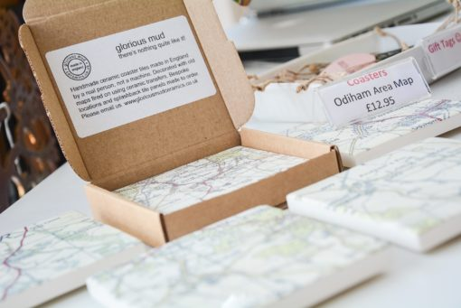 local area coasters at the frame gallery in odiham