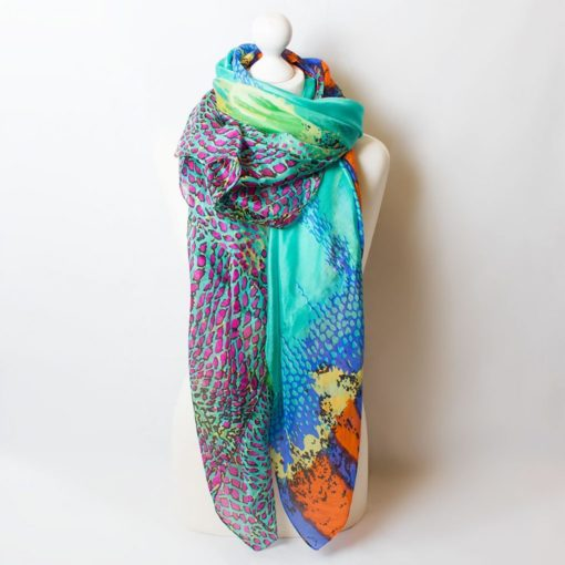 100% silk scarves at The Frame Gallery