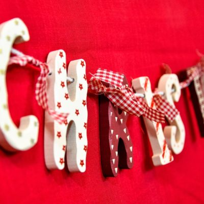 Wooden Christmas Banner at The Frame Gallery Odiham.