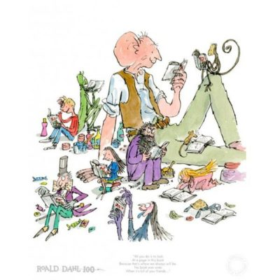 Roald Dahl Birthday Edition Print at The Frame Gallery in Odiham.