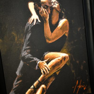 Study for Tango by Fabian Perez at The Frame Gallery in Odiham.