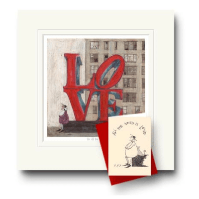 All We need is love by Sam toft available at The Frame Gallery in Odiham.