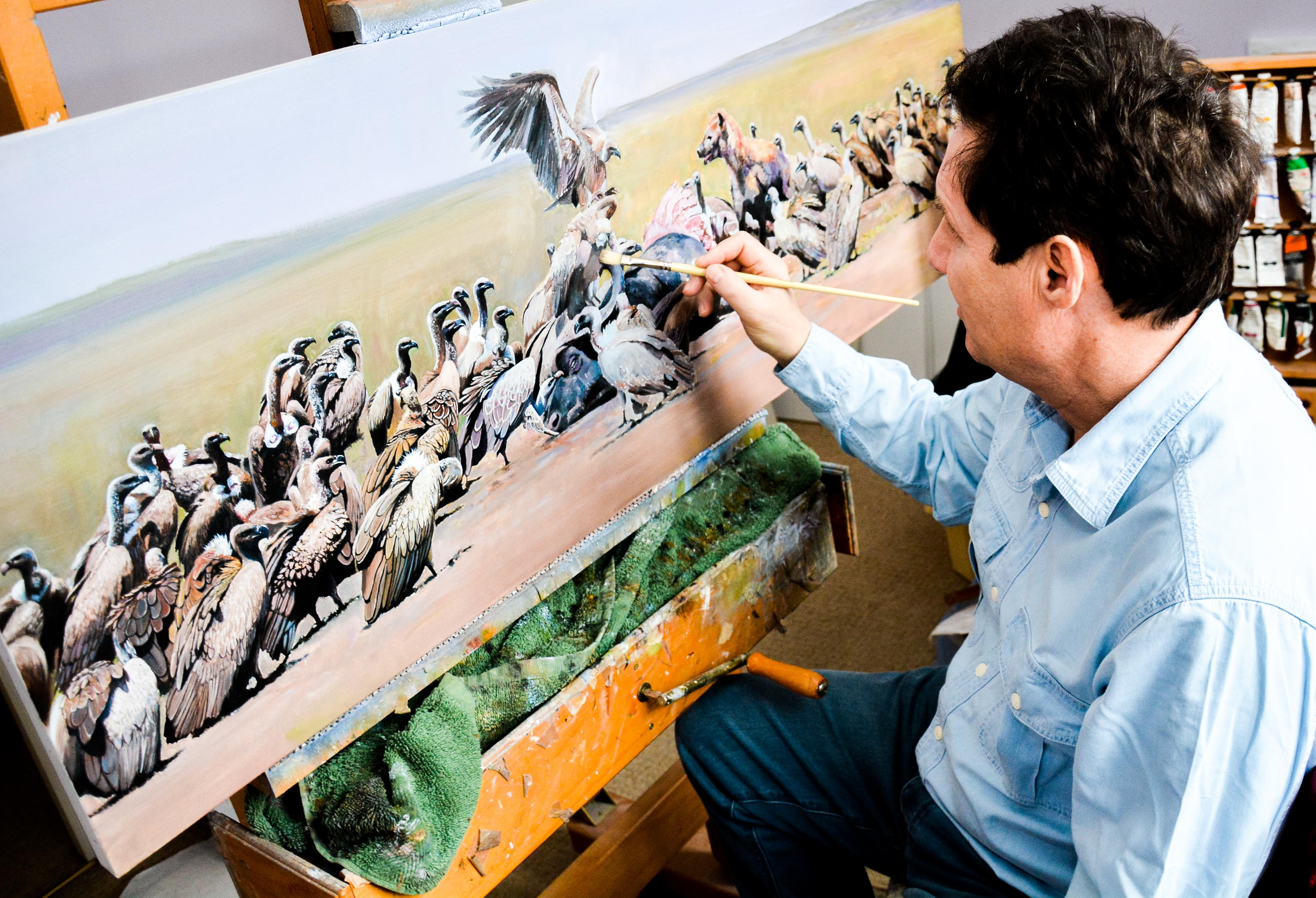 Pip Painting Vultures COL-5