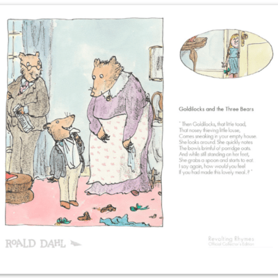 Roald Dahl and Quentin Blake Goldilocks and The Three Bears Limited Edition Collector's Print available at The Frame Gallery in Odiham