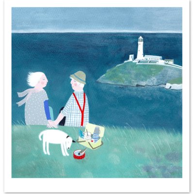 Our Favourite Spot by Mani Parkes limited edition print available at The Frame Gallery in Odiham.