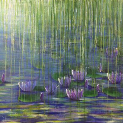 Lillies by Sarah Pye available At The Frame Gallery Odiham