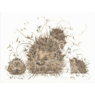 Hedgie and the hoglets by Aaminah Snowdon available at The Frame Gallery in Odiham.