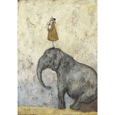 Nice View That by Sam Toft. Limited Edition 4/15 Special Edition Rework available at The Frame Gallery in Odiham.